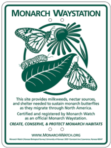 certified Monarch waystation